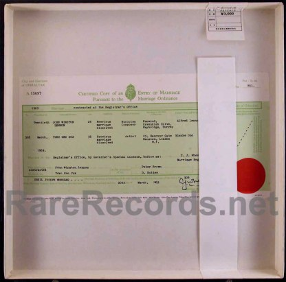 john & yoko - wedding album red vinyl japan LP