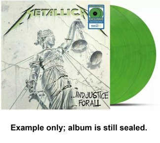 metallica - and justice for all green vinyl u.s. lp
