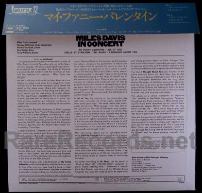 miles davis - my funny valentine japan lp