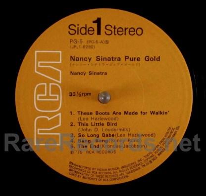 nancy sinatra - pure gold japan lp