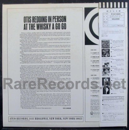 otis redding - in person at the whisky a go go japan promo lp