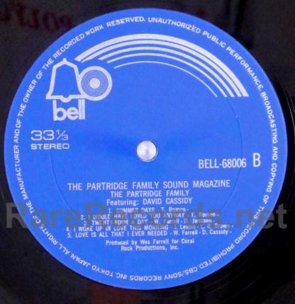 partridge family - sound magazine japan lp