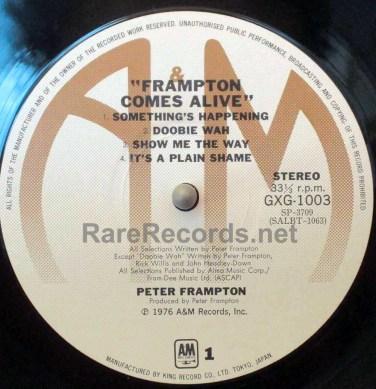Peter Frampton - Frampton Comes Alive! japan lp