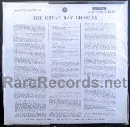 ray charles - the great ray charles u.s. mono lp