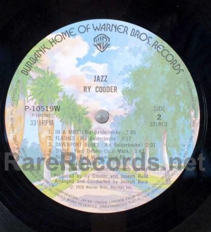 ry cooder - jazz japan lp