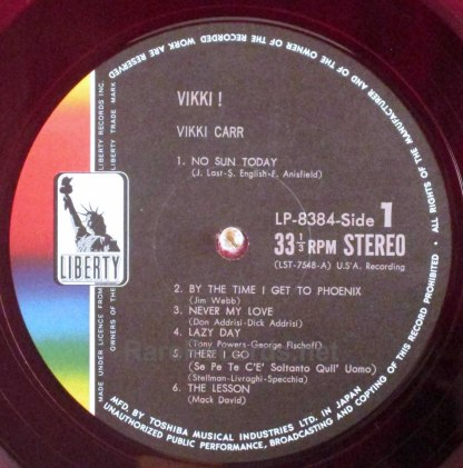vikki carr - vikki! japan red vinyl lp