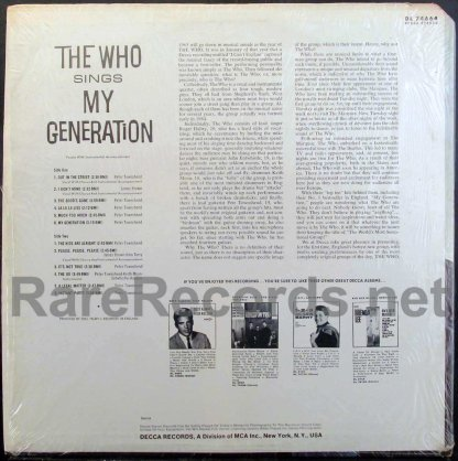 who - my generation u.s. lp