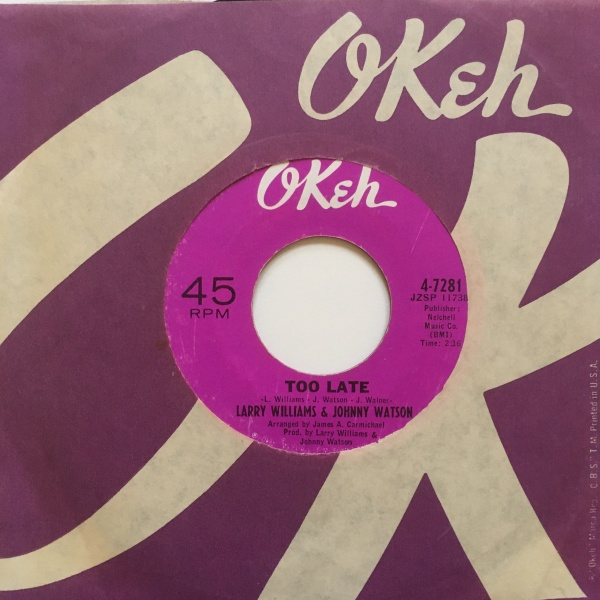 Complete song listing of johnny. Larry Williams & Johnny Watson