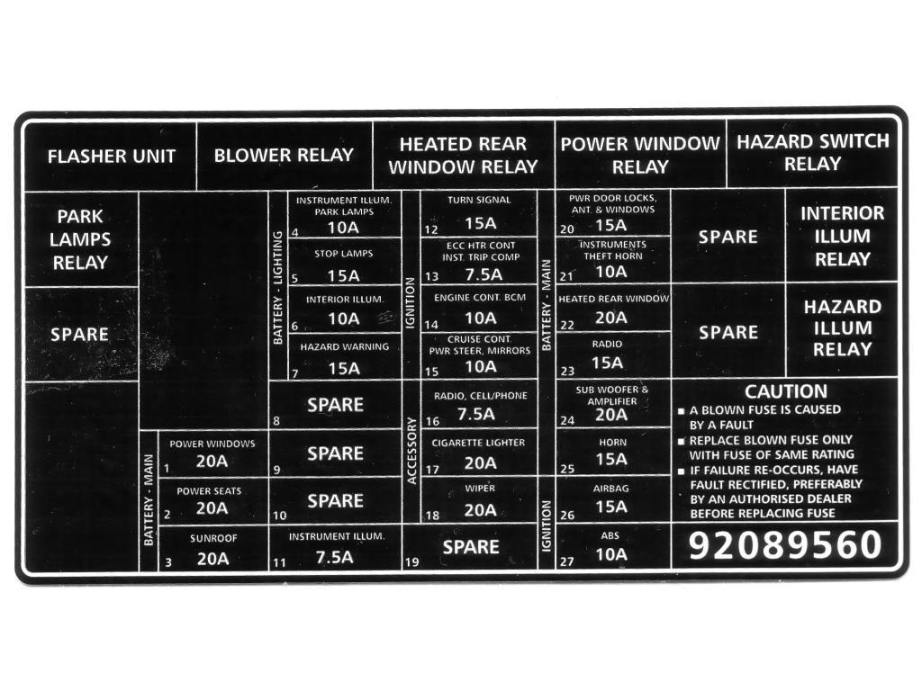 holden wb statesman wiring diagram sony cdx gt54uiw decal fuse panel vx commodore 92089560