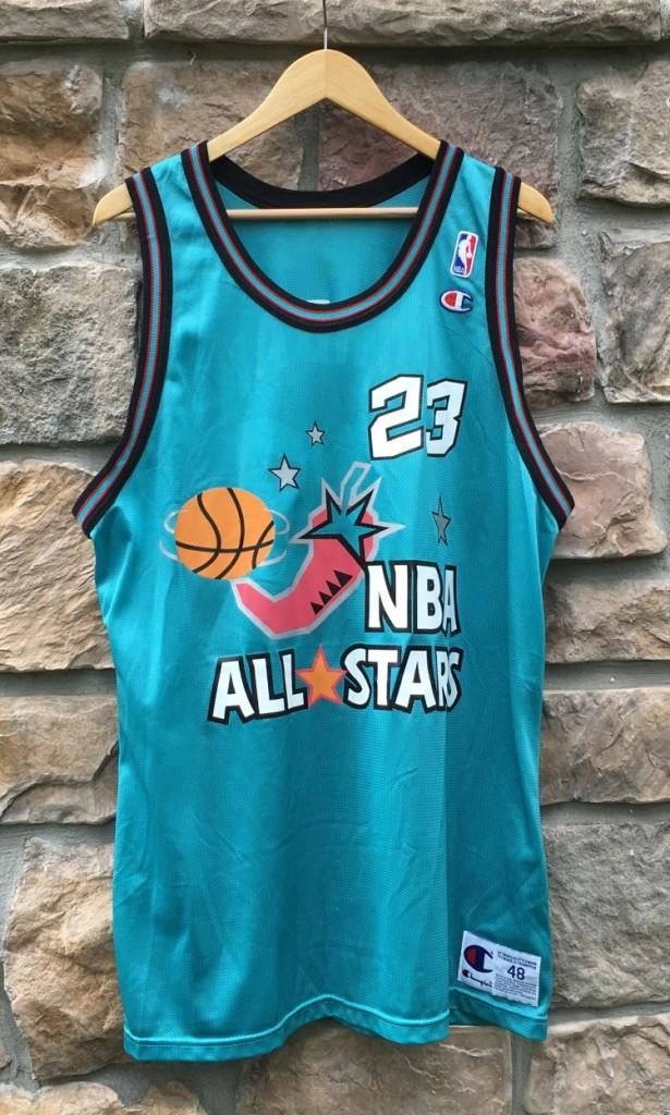 1996 Michael Jordan Eastern Conference NBA All Star Champion Jersey Size 48  Rare Vntg