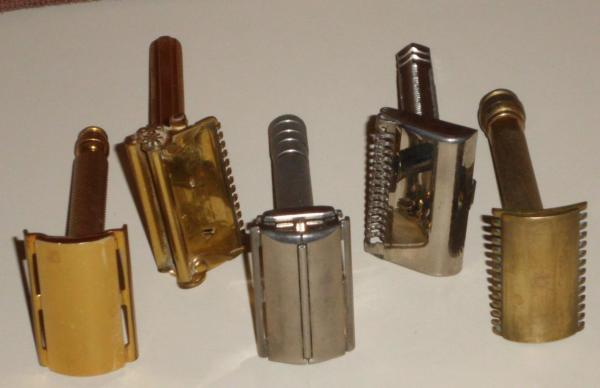 Mixed Lot Of Five Vintage Safety Razors