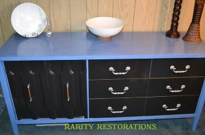 painted mid century credenza