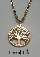 14KY Pierced Tree of Life Pendant