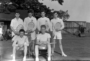 17. Tennis. Rasen Mail glass neg. 0017
