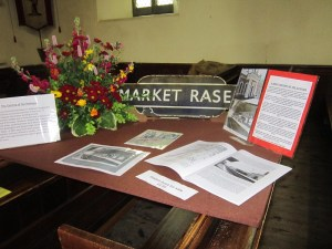 Market Rasen Railway Station, Display in St Thomas' Flower Festival May 2014