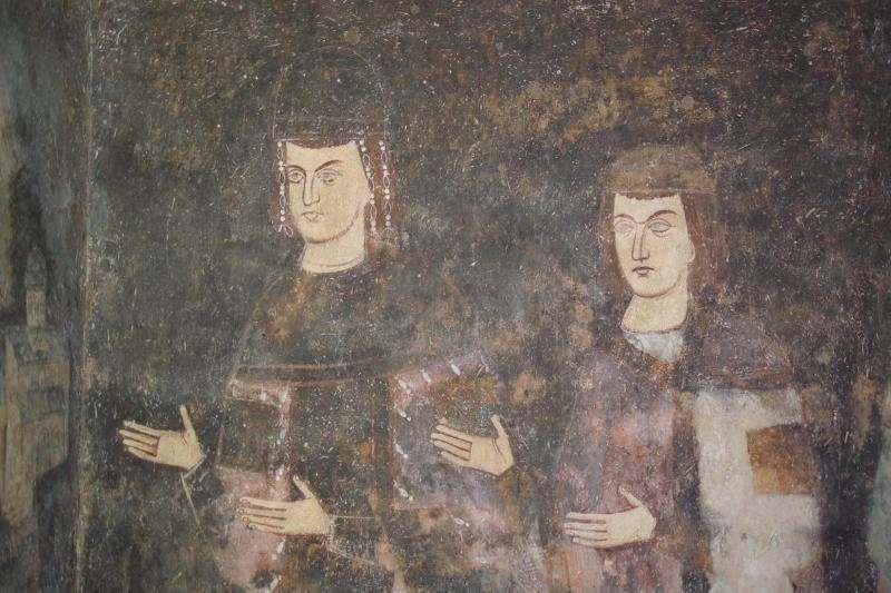 Фреска краља Драгутина и краљевића Милутина у Сопоћанима