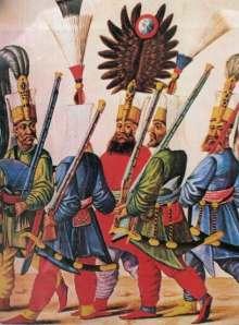 Sultan Murat četvrti sa janičarima