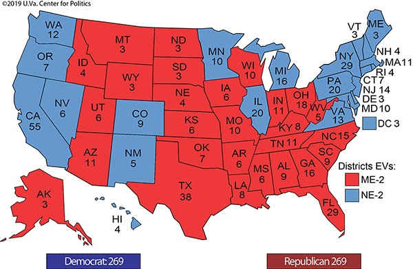 Image result for IMAGES ELECTORAL COLLEGE MAP