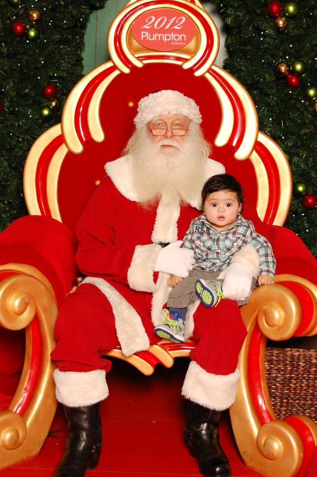 Nicholas Rasnier With Santa Claus