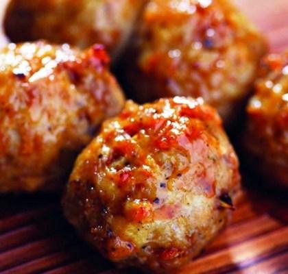 nutty chicken balls recipe by rasoi menu