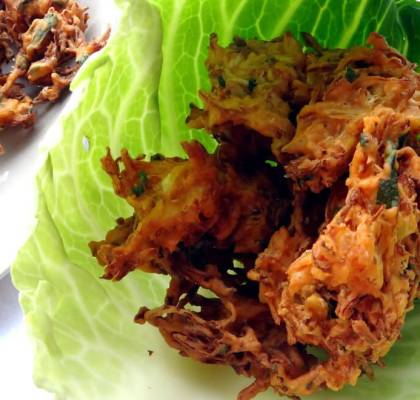 cabbage pakora recipe by rasoi menu
