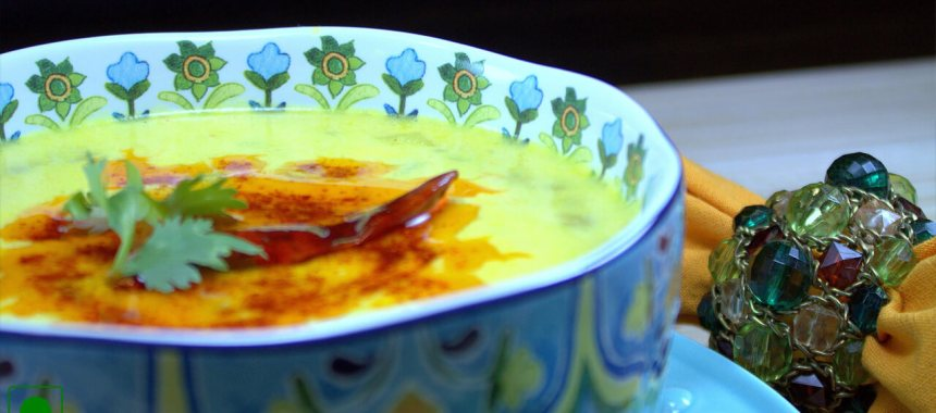Rajgira Kadhi Recipe