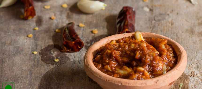Red Garlic Chutney Recipe
