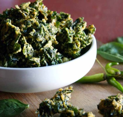 palak pakora recipe by rasoi menu