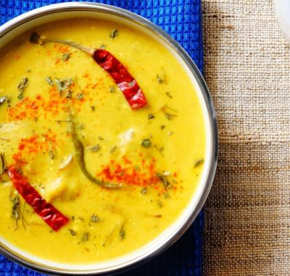 singhare ki kadhi recipe by rasoi menu
