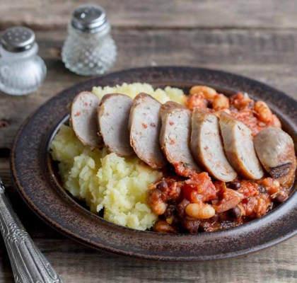 Baked Bean Chaat With Sausages Recipe by Rasoi Menu
