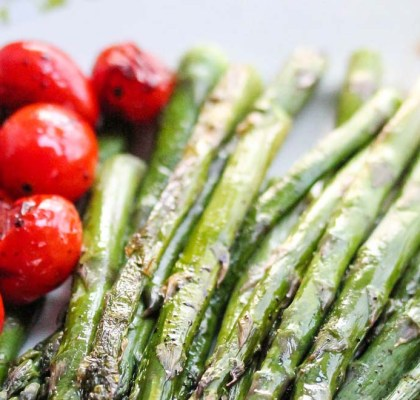 asparagus with balsamic tomatoes recipe by rasoi menu
