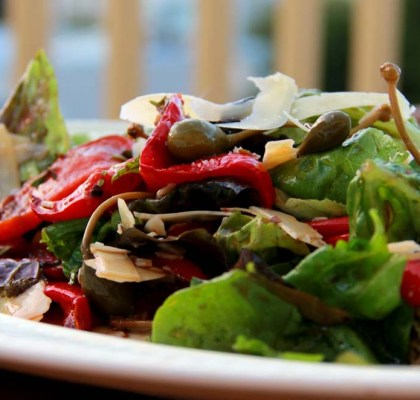 roasted capsicum salad recipe by rasoi menu
