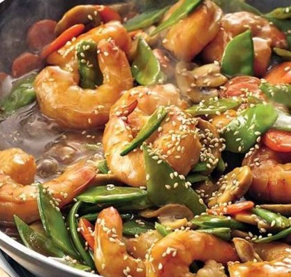 stir fried szechuan prawns by rasoi menu