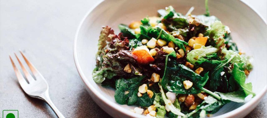 Greens Topped With Corn Recipe