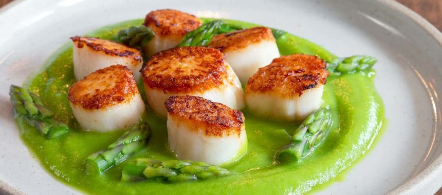 Scallops With Asparagus Recipe