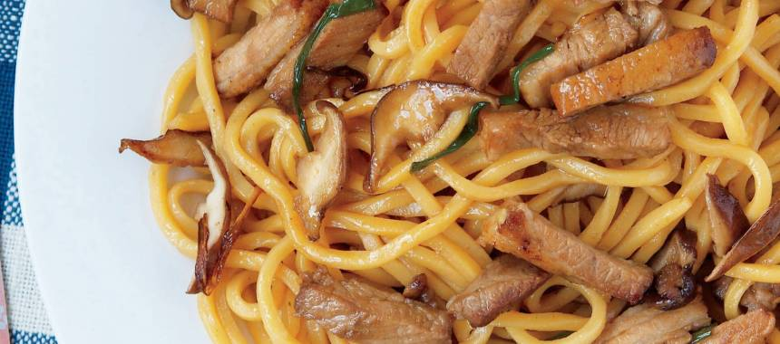 Citrus Pork with Egg Noodles Recipe