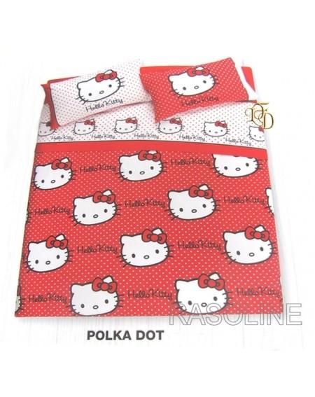 Trapunta piumone gabel hello kitty invernale singolo una piazza my. Copriletto Trapuntato Trapuntino Matrimoniale Polka Dot Rosso Hello Kitty Gabel