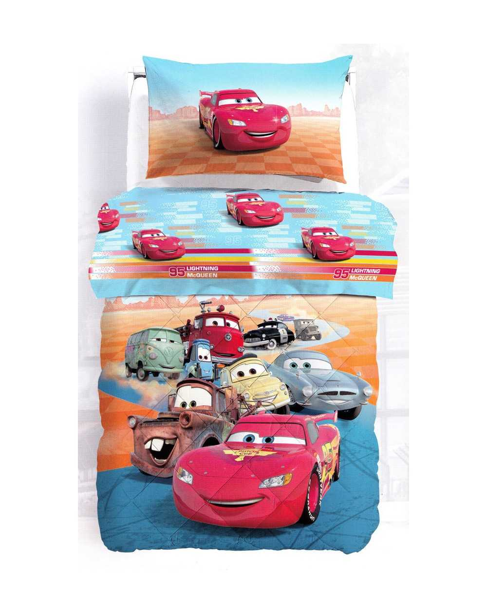 Cars corsa trapuntino singolo disney by caleffi. Comforter Single Bed Cars Flash