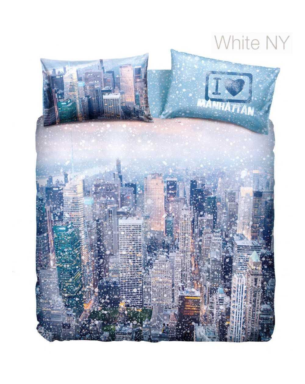Scopri le ultime offerte del mese su trapunte, piumoni e copriletti invernali!. Set Copripiumino Una Piazza E Mezza Manhattan By Bassetti White New York