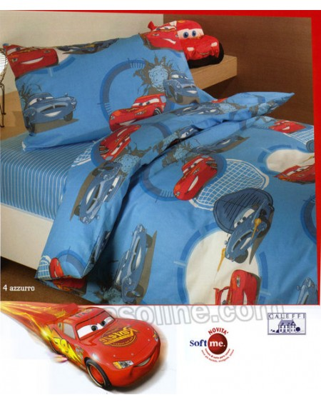 Trapunta invernale caleffi serie cars per letto cameretta singolo! Trapunta Saetta Cars Go Azzurro Caleffi Disney Una Piazza