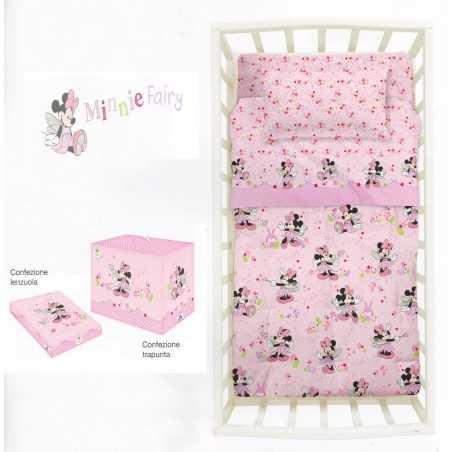 Gieffe s.a.s di ferrari franca & Trapunta Invernale Per Lettino Minnie Fairy Rosa Confezione Scatola Disney