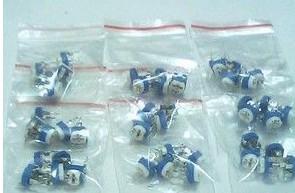 Horizontal Regolabile Resistenze kits ,100R-1m 5 Pezzi of 13kinds : 100 (101) 200 (201) 500 (501) 1K(102) 2K(202) 5K(502) 1
