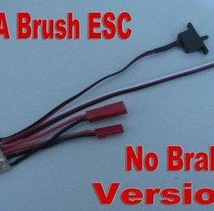 RC ESC 10A Brushed Electrolic Speed Controller for 1/16 1/18 1/24 (without brake) car and boat