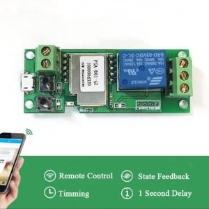 5V jog / self-locking Pulsante phone app Controllo Remoto timing wifi smart remote access refit