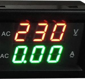 YB4835VA 300V 10A Split Dual LED Voltmetro Amperometro Digitale