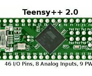 Teensy 2.0 ++ Scheda di sviluppo AVR USB tastiera e mouse ISP U breadboard AT90USB1286