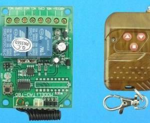 Modulo remoto relè a 2 canali 12V verde