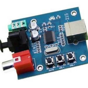 Decodificatore DAC scheda audio PCM2704USB Decodificatore scheda audio HIFI a fibra coassiale con ingresso USB