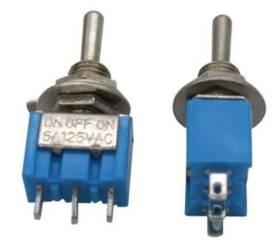 2 Pezzi MTS-102 / 3Pins 2Positions Interruttore a levetta / MTS102