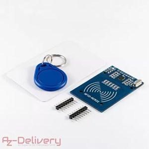 raspberryitalia azdelivery rfid kit rc522 set nfc lettore ic card rfid portachiavi con
